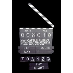 Captain America clapperboard
