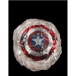 "Hero Captain America shield encased in ""ice"" resin with concept/production artwork"