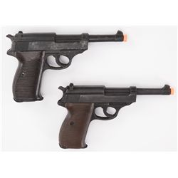 Pair of stunt resin Walther pistols