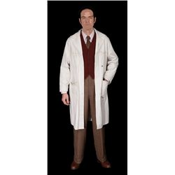 Dr. Erskine hero Rebirth Lab costume with pair of lab coats, one distressed