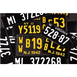 Large collection of license plates