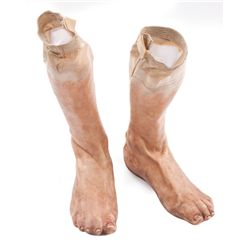 Steve Rogers' prosthetic feet for barefoot chase of Heinz Kruger