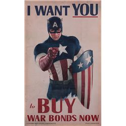 "Captain America ""I Want You"" war bonds poster"