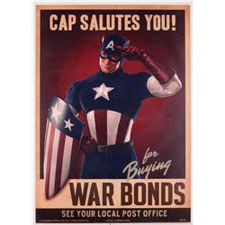"Captain America ""Cap Salutes You!"" war bonds poster"