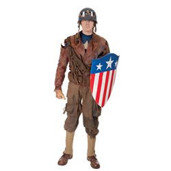 Captain America distressed hero rescue suit