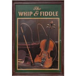 """The Whip & Fiddle"" pub sign"