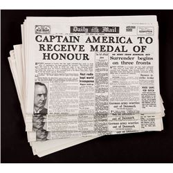 "Captain America ""Medal of Honor"" headline newspapers"