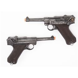 Pair of stunt Luger pistols