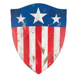 Screen-used Invaders scene Captain America shield