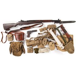 Collection of Allied troop equipment