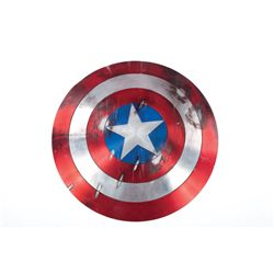 Captain America distressed shield with Hydra assault rifle hits