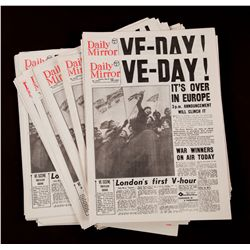 """VE Day"" headline newspapers"