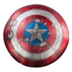 Captain America distressed stunt shield