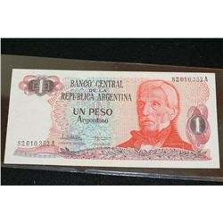 Argentina Un Peso Foreign Bank Note