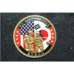 We Go Together Challenge Medal Presented by Gen B.B. Bell Commander UNC CFC USFK