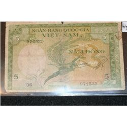 Vietnam Foreign Bank Note 5 Nam-Dong
