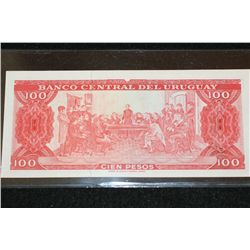 Bank of Uruguay 100 Note