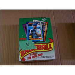 Box Of Topps Baseball Cards