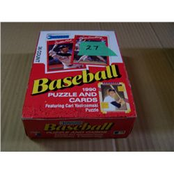Box Of DONRUSS Baseball cards & Puzzle 1990