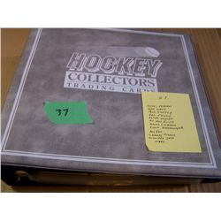 Grey Binder Of Hockey Cards