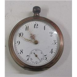 Cuivre Ladies Pocket Watch, Key Wind. Late 1800's. No Key, Has Not Been Tested. Case Is Silver