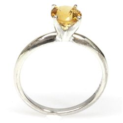 Natural 2.25ctw Citrine .925 Sterling Silver Ring