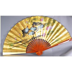 Large Chinese Watercolour Fan Painting