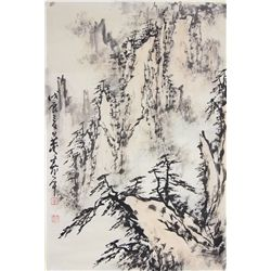 Chinese Watercolour Signed Dong Shou Ping