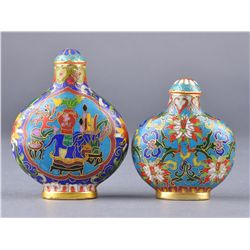 Pair of Chinese Cloisonne Snuff Bottles