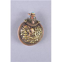 Chinese Tibetan Bronze Snuff Bottle