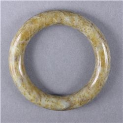 Chinese Carved Jade Bangle GIC Certificate