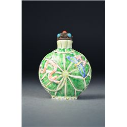 Chinese Enameled Porcelain Snuff Bottle