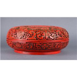 Chinese Qing Period Cinnabar Lacquer Carved Box