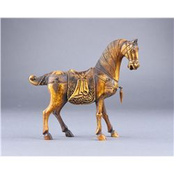 Chinese Bone Carved Model of Horse