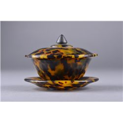 Chinese Decorative Tortoise Cup & Plate