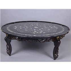 Korean Lacquer Table with Mother of Pearl Inset