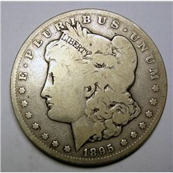 1895-S MORGAN SILVER DOLLAR VG ORIGINAL