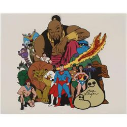 18 Superheroes Signed Original Model Cel Animation Art