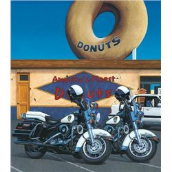 AMERICA'S FINEST Jacobs Harley Motorcycle Art on Canvas