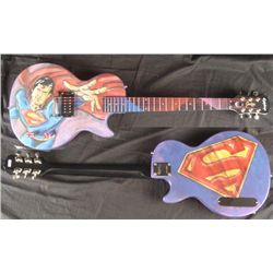 Superman Superhero Original Painting Duerrstein Guitar