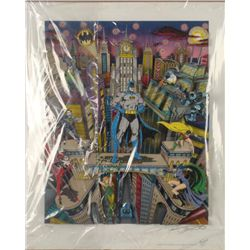 Batman 3-D Ltd Ed Signed Comic Art Print Fazzino