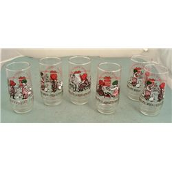 6 Coke Holly Hobbie Christmas Glasses Set Coca-Cola '79