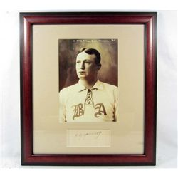 CY YOUNG CUT SIGNATURE W/ PICTURE - FRAMED W/ COA