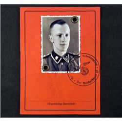 GERMAN NAZI GUARD ID DOCUMENT W/ PHOTO