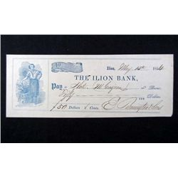ELIPHALET REMINGTON SIGNED CHECK W/ COA
