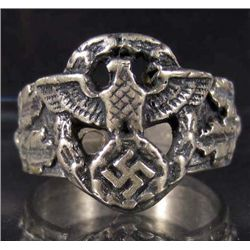 STERLING SILVER GERMAN NAZI RING