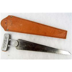 KNAPP SPORT SAW - DEER SAW W/ LEATHER SHEATH