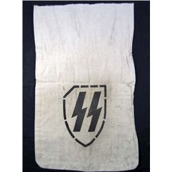 RARE GERMAN NAZI WAFFEN SS TOTENKOPF BANK NOTE BAG