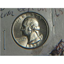 1958 D WASHINGTON QUARTER