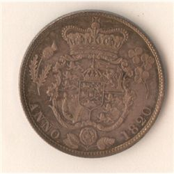 GB 1820 ½ Crown